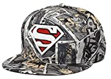 Ambiel Adult Multi Color Superman Snapback Baseball Cap Red