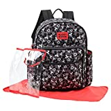 Disney Mickey Mouse Toss Head Print Backpack Diaper Bag, Black