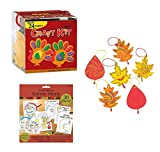 Colorful Magic Color Scratch Fall Leaves (24 Count), Turkey Craft Kits (24 Count) and Bonus Thanksgiving Activity Sheets Party Pack (30 Count)