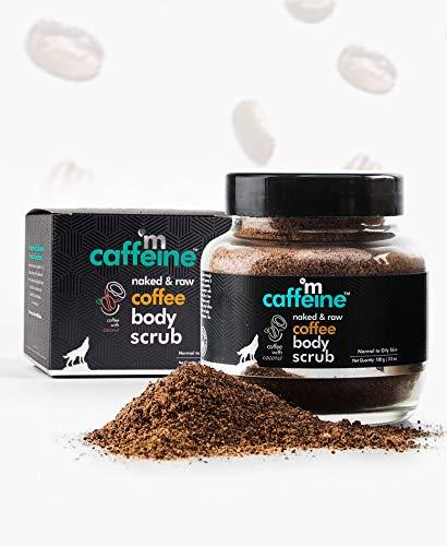 51828OInmTL mCaffeine Naked & Raw Coffee Body Scrub, 100 g | Coconut | Tan Removal | Oily/Normal Skin | Paraben & SLS Free
