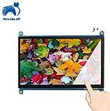 Juvtmall 7 inch Raspberry Pi Screen Display HDMI-1024x600 HD TFT LCD Monitor Capacitive Touch Screen Display Model with Touch Function for Raspberry Pi B+/2B/3,Banana Pi/Pro,BeagleBone Win 7/8/10 …