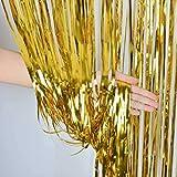 ZagGit Set of 2 Metallic Gold Foil Fringe Party...