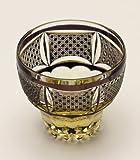Edo Kiriko Old Fashioned Glass (Rock Glass): Black