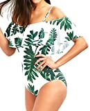 Women's Shoulder Belt Personalized Print Sexy Beach Or Party One-Piece Swimsuits