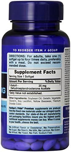 Puritan's Pride Rapid Release Softgels, 7-Keto Dhea, 25 mg, 60 Count 5