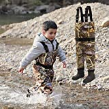 NEYGU Toddler & Children's Breathable Waterproof Waders Bootfoot Chest Waders, 5T, Camo