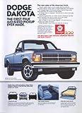 Dodge Dakota First True Mid-Sized Pickup Ever ad 1987