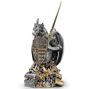 Dragão Medieval Guardião do Tesouro Estátua