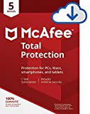 McAfee Total Protection|Antivirus| Internet Security| 5 Device| 1 Year Subscription| PC/Mac Download|2019 Ready