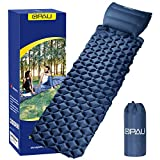 QPAU Camping Sleeping Pad, Waterproof Inflatable Sleeping Mat with Removable Pillow, 85inch Ultralight Camping Sleeping Mat for Indoor and Outdoor