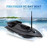 COLOR-LILIJ Fish Finder 1.5kg Loading 500m Remote Control Fishing Bait Boat RC Boat,Electronic Remote Control,500m Signal,for Kids or Adults, Remote Control Fishing Bait Boat(Black/Large)