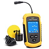 LUCKY Fish Finder Portable, Handheld Wired Fishfinder Fishes Alarm Sonar Sensor Transducer with LCD Display for Kayak Fishing
