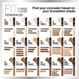 Maybelline New York Fit Me Liquid Concealer Makeup, Natural Coverage, Oil-free, Ivory