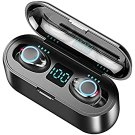 True Wireless Earbuds – TWS Bluetooth Earbuds 5.0 | Excellent Hi-Fi Sound | 120H Cyclic Playtime | IPX7 Waterproof Noise Cancelling Earbuds | for iPhone & Android | for Sports, Gym etc.| Built-in Mic