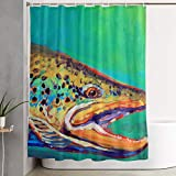 DLZXHomer Brook Trout Fly Fishing Shower Curtain 60×72 Inch