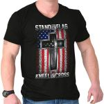 American V Neck T Shirt
