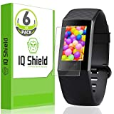 IQ Shield Screen Protector Compatible with Fitbit Charge 3 (6-Pack) LiquidSkin Anti-Bubble Clear Film