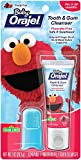 Orajel Baby Elmo Tooth and Gum Cleanser with Finger Brush, Fruity Fun, 1.0 Oz