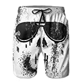 Product review for A Skull With Glasses SUMMER Man Quick Dry Polyester Beach Shorts Swim Trunks