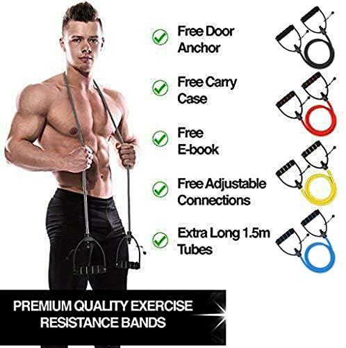 Makalon 2020 Resistance Bands Tube Workout Exercise Elastic Band Fitness Equipment Yoga Home 7