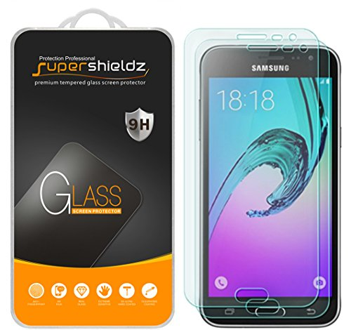[2-Pack] Samsung Galaxy J3 / J3 (2016) Tempered Glass Screen Protector, Supershieldz Anti-Scratch, Anti-Fingerprint, Bubble Free, Lifetime Replacement Warranty