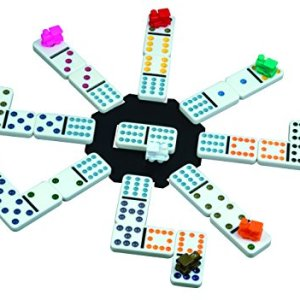 Mexican Train Domino Game with Aluminum Case 518MDBWYw3L