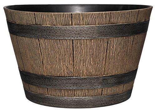 "Classic Home and Garden HD1-1027 DisOak Whiskey Barrel, 20.5"", Distressed Oak"