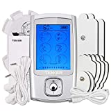 TENKER EMS TENS Unit with 8 Electrode Pads, Rechargeable Muscle Stimulator Pain Reliever for Muscle Stiffness, Soreness, Aches and Pains, Perfect for Relaxation