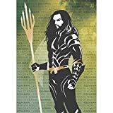 MightyPrint Justice League Movie Aquaman Words Wall Art DC Comics Premium Print
