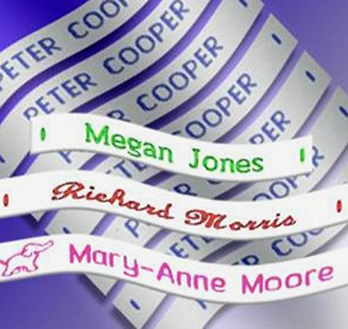 Label Weavers 72 Woven Sew-on Name Tapes/Tags for School/Camp/Care Home