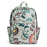 Vera Bradley Lighten Up Grand Backpack, Polyester, Mint Flowers