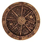 Dryad Design Small Wheel of The Year Wall Plaque Wood Finish
