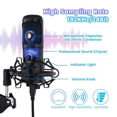 USB-Podcast-Microphone-Kit-NASUM-192KHZ24BIT-Plug-Play-Condenser-Microphone-with-Sound-Card-Volume-Knob-and-LED-Ring-Light-for-Gaming-Recording-Voiceover-and-YouTube