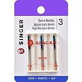 Singer Denim Machine Needles, Size 100/16, 3-Pack