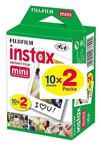 Fujifilm Instax Mini Film 20 Prints for Fuji 8 50s 25 7s 90 300, Full Color, Twin Pack