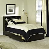 Twin Storage Bed White, Twin Bed Frame with Storage (Soft White)