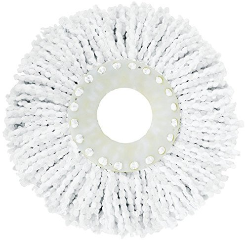 Casabella Spin Cycle Mop Head Refill, 1-Count, White