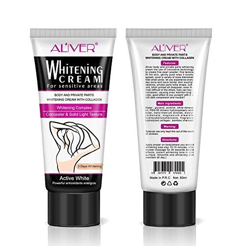 Whitening Creams, Body Creams for Sensitive Areas,Skin Whitening Cream, Natural Whitening Deodorant Cream for Dark Skin, Armpit, Elbow, Body, Neck, Underarm Repair Whitening Cream for Women Beauty