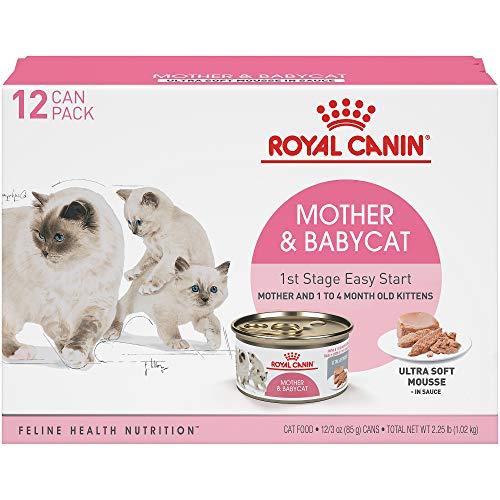 Royal Canin Feline Health Nutrition Mother and Babycat Canned Cat Food, 3 oz (Pack of 12)