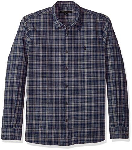 518c6wqSF5L Cold garment wash 2 tone check