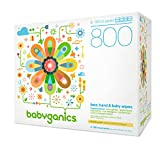 Babyganics Fragrance-Free Face Hand and Baby Wipes, 800 wipes, Packaging May Vary