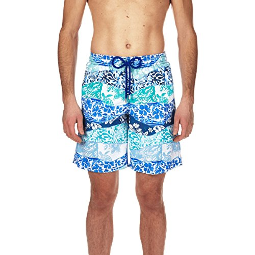 71YW0 2ceAL Long Swimwear Elastic waistband, drawstring, side pockets Back pocket with Velcro flap