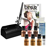 Starter Airbrush Makeup Kit Foundation, Blush Bronzer Set | Tan Shades | By Dinair