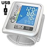 Wrist Blood Pressure Monitor by Care Touch with USB Charging - Slim Digital BP Machine with back-light, adjustable cuff and irregular heartbeat indicator
