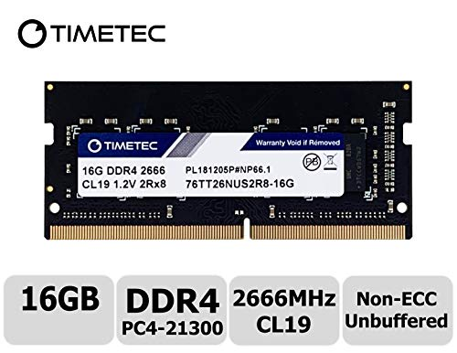 Timetec-16GB-DDR4-2666MHz-PC4-21300-Unbuffered-Non-ECC-12V-CL19-260-Pin-SODIMM-Laptop-Notebook-Computer-Memory-RAM-Module-Upgrade-S-Series-Not-for-iMac-2019