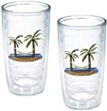 TERVIS Tumbler, 16-Ounce,'Palm Trees and Hammock', 2-Pack