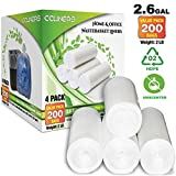 2.6 Gallon Clear Small Trash Bags Bathroom Garbage Bags Plastic Wastebasket Can Liners for Home and Office Bins, 200 Count