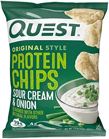 Quest Nutrition Protein Chips, Sour Cream & Onion, Pack of 12 3