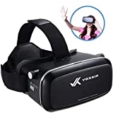 "Virtual Reality Headset 3D VR Glasses by Voxkin – High Definition Optical Lens, Fully Adjustable Strap, Focal and Object Distance – Perfect VR Headset for iPhone, Samsung and any Phones 3.5"" to 6"""