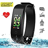 Updated 2019 Version Fitness Tracker HR, Activity Trackers Health Exercise Watch with Heart Rate Blood Pressure Sleep Monitor, Smart Band Calorie Step Counter, Pedometer Walking for Men Women Kids